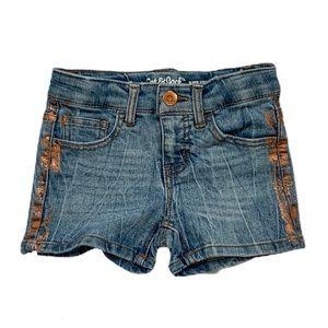 Cat & Jack Denim Jean Foiled Adjustable Shorts